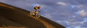 Biker on a slope