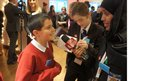 Laki interviews primary school pupil at Royal Commonwealth Society event