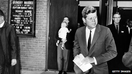 President John F Kennedy leaving church in 1962