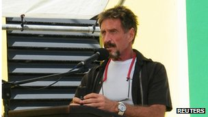John McAfee speaking in Belize on 8 November 2012