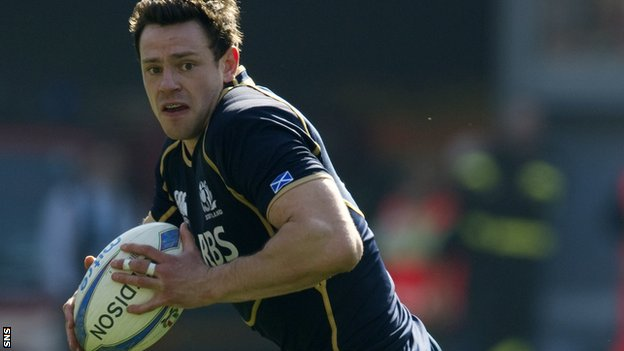 Scotland centre Nick De Luca