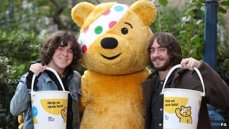 Pudsey the bear helping to raise money