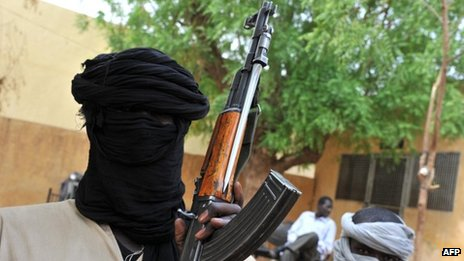 Islamist fighters in Gao, Mali, 16 July