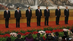 New members of the Politburo Standing Committee,  15 November 2012