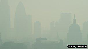Smog in London in 2011