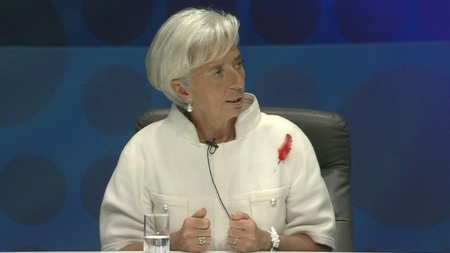 Christine Lagarde, managing director of the IMF