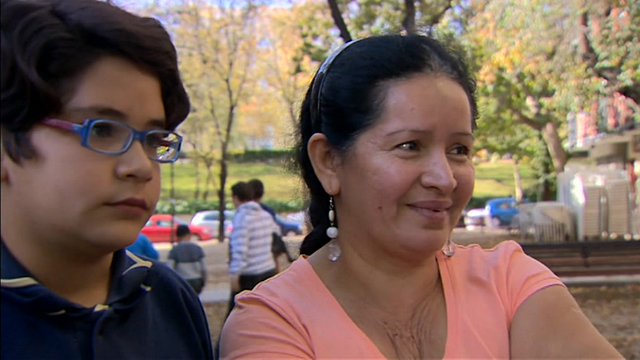 A family facing eviction in Madrid