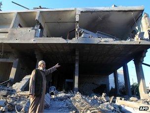 House after air strike strike in Gaza City