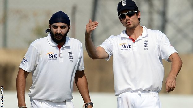 Monty Panesar and Alastair Cook