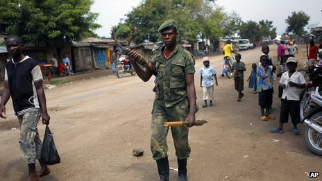 M23 rebel in North Kivu town of Rubare near Rutshuru. 5 Aug 2012
