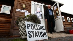 Polling Station in Bethersden, Kent
