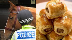Police horses and sausage rolls