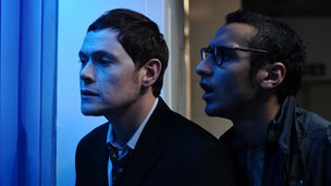 Burn Gorman and Aymen Hamdouchi in Up There
