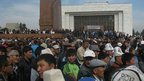 Campaigners calling for the mine to be nationalised in the the Kyrgyz capital, Bishkek