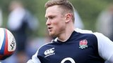 England wing Chris Ashton trains ahead of the Australia game