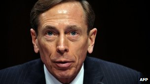 David Petraeus, testifies before the US Senate Intelligence Committee  on 31 January 2012