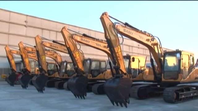 Diggers assembled in Brazil by Chinese firm Sany