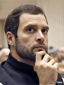 Rahul Gandhi, a lawmaker and son of India&quot;s ruling Congress party chief Sonia Gandhi, attends the Nehru memorial lecture in New Delhi November 14, 2012