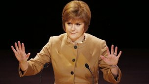 Nicola Sturgeon at SNP conference