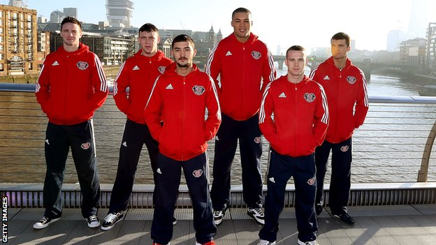 (L to R) Josh Taylor, Fred Evans, Andrew Selby, Joe Joyce, Sean McGoldrick and Anthony Fowler