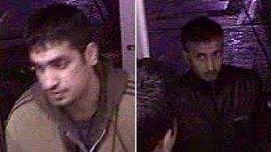 CCTV of men police want to speak to