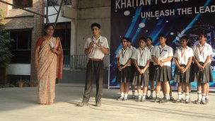 Khaitan students share their news stories with the rest of the school