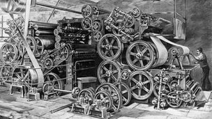 Nineteenth century printing press