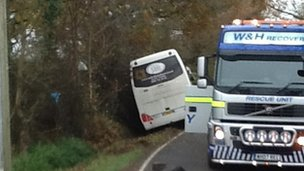 Newdigate coach crash