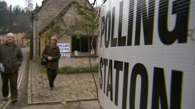 Polling station in Swindon
