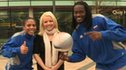 Harlem Globetrotters players meet BBC Sport's Amelia Harris