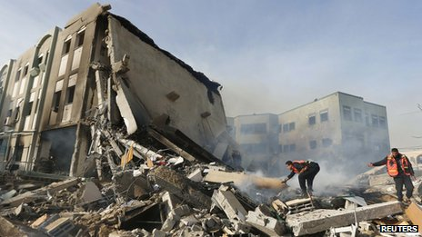 Destroyed Interior Ministry, Gaza City