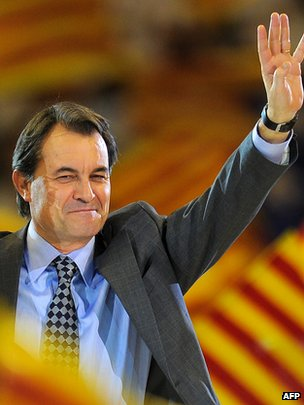 Artur Mas at a rally in 2010