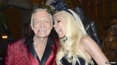 Hugh Hefner and Playboy bunny