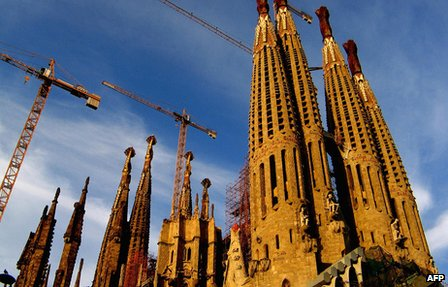 Antoni Gaudi's unfinished Sagrada Familia