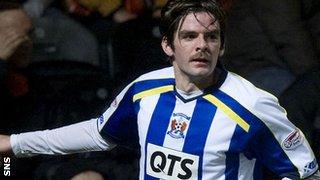 Kilmarnock striker Cillian Sheridan