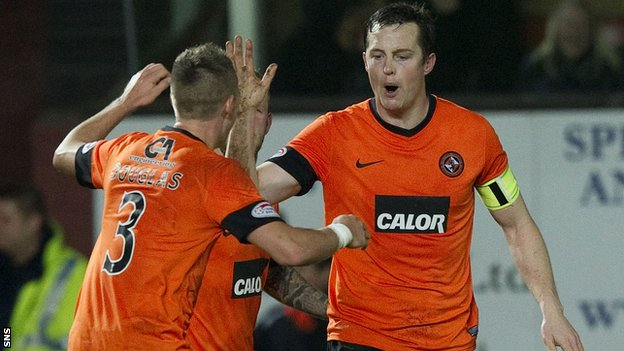 United skipper Jon Daly netted twice in the second half