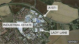 Hadleigh map