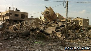 Hamas PM's office after Israeli airstrike, 17/11/12