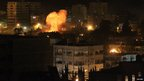 Explosion after Israeli air strike on Gaza police HQ (17 Nov)