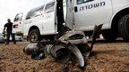Remains of Palestinian rocket in a village near Ashdod (17 Nov)