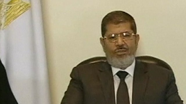 Egyptian President Mohammed Mursi 