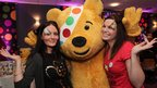 Shona Moore and Kelly Clyde with  Pudsey Bear