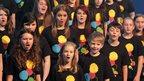 Pupils from Grosvenor Grammar, Lagan College and Lumen Christi College