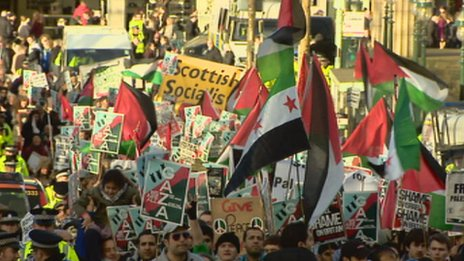 Gaza march