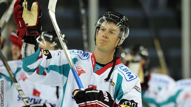 Robbie Sandrock of the Belfast Giants