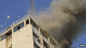Attack on Gaza Media Centre 18/11/12