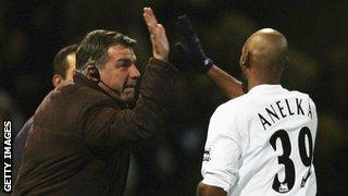 Sam Allardyce and Nicolas Anelka while at Bolton