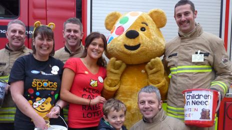 Firefighters from Wrexham raising money for Children In Need