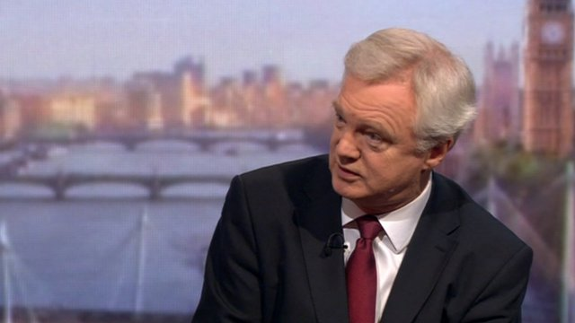 Conservative backbencher David Davis on the Andrew Marr Show