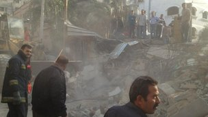 Rescue efforts after Israeli air strike on Hamas man's family home